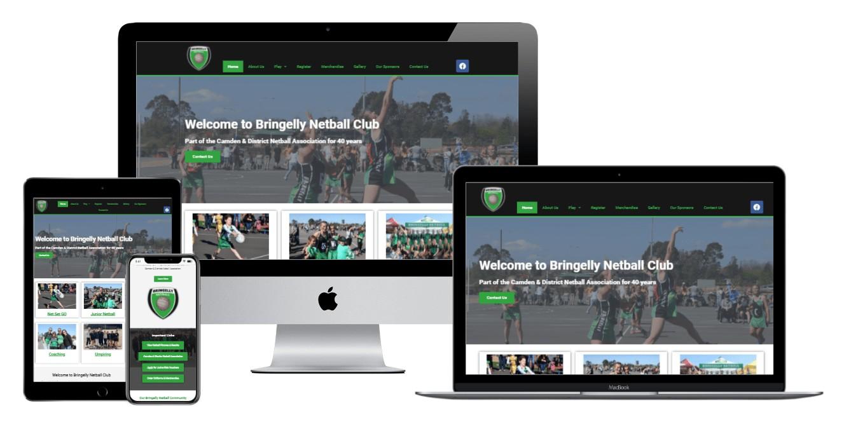 sports club web design